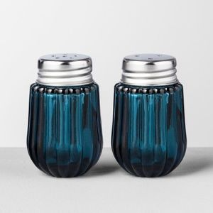 Hearth And Hand Blue Glass Salt Pepper Shakers